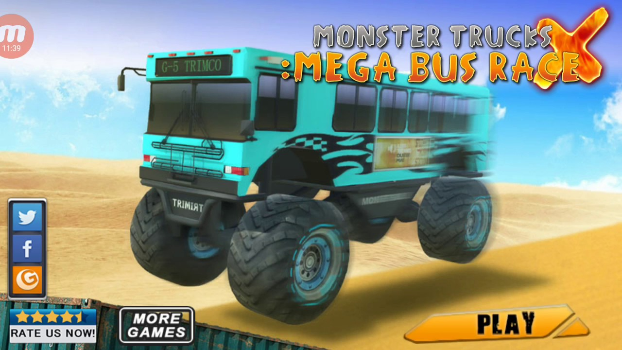 Monster Trucks X: Mega Bus Race