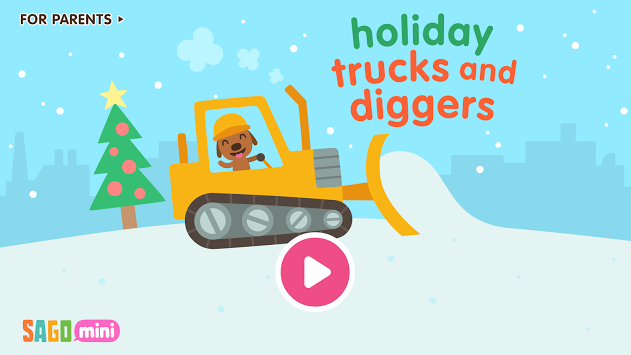 Sago Mini Holiday Trucks and Diggers