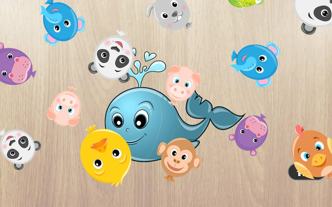 Baby Puzzles for Kids, Animals Sounds, Balloon Pop