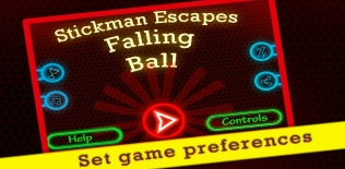 Stickman Escapes Falling Balls